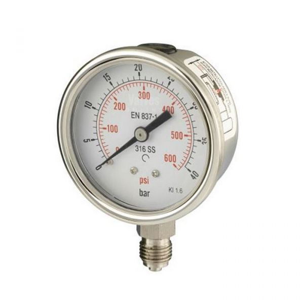 Bottom Entry Stainless Steel Process Pressure Gauge