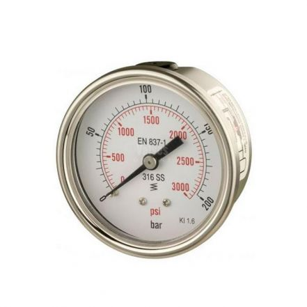 All Stainless Steel Back Entry Process Pressure Gauge