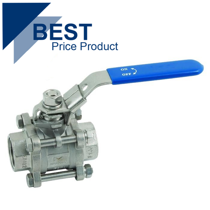 Economy 3 Piece Stainless Steel Ball Valve