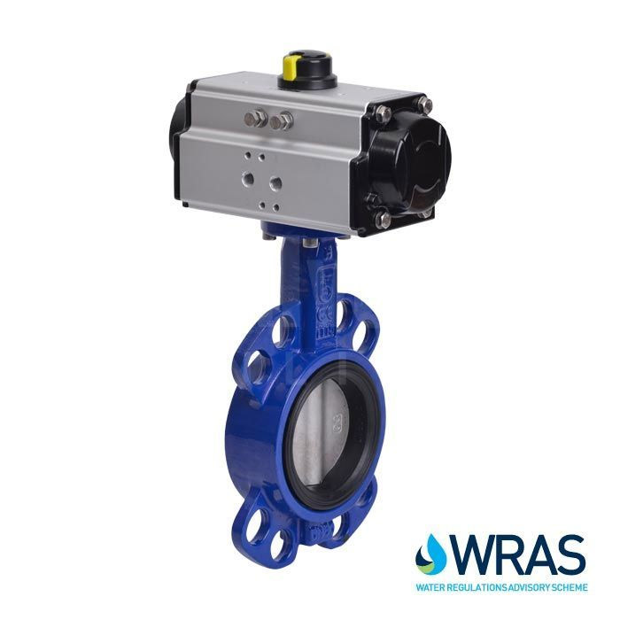 Pneumatic Actuated WRAS Approved Butterfly Valves
