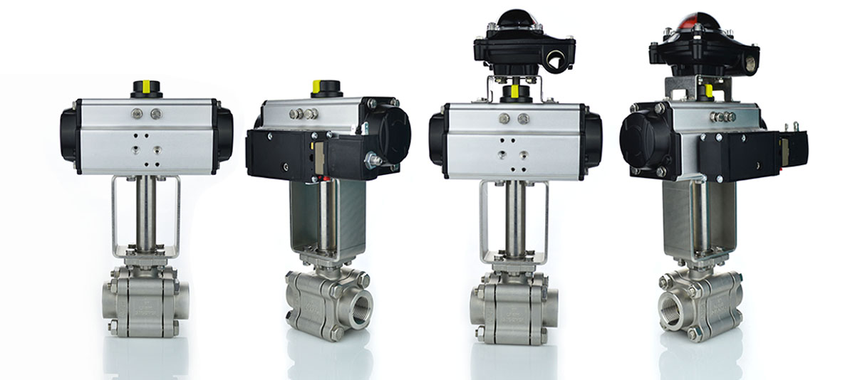 Actuated ball valve build up