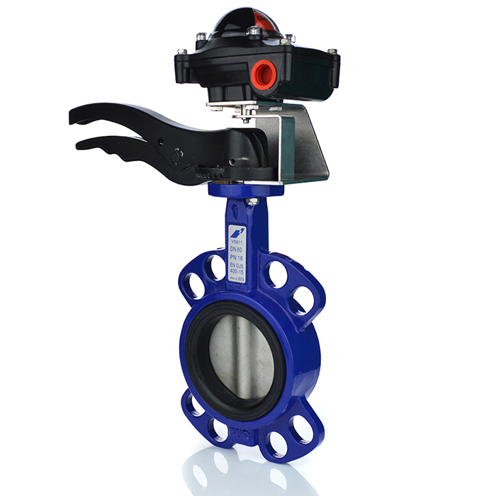 Resilient Seated Wafer Butterfly Valve with Limit Switchbox